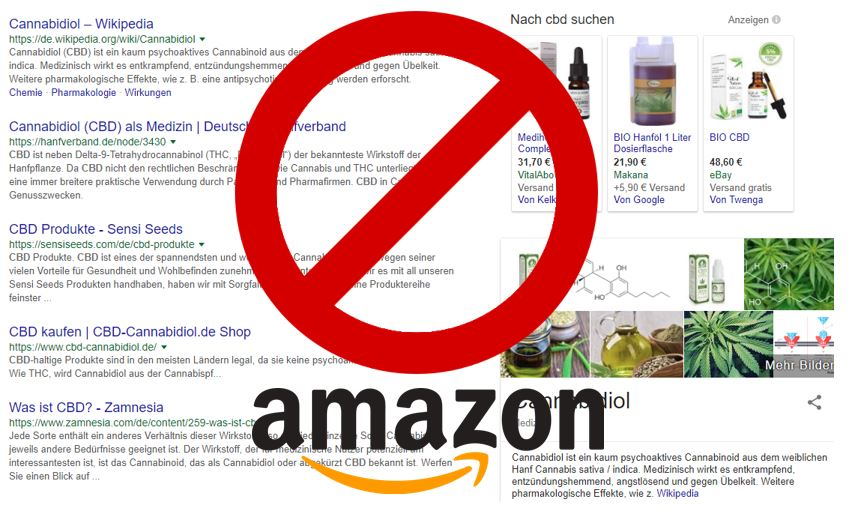 Amazon Verbot: CBD Produkte