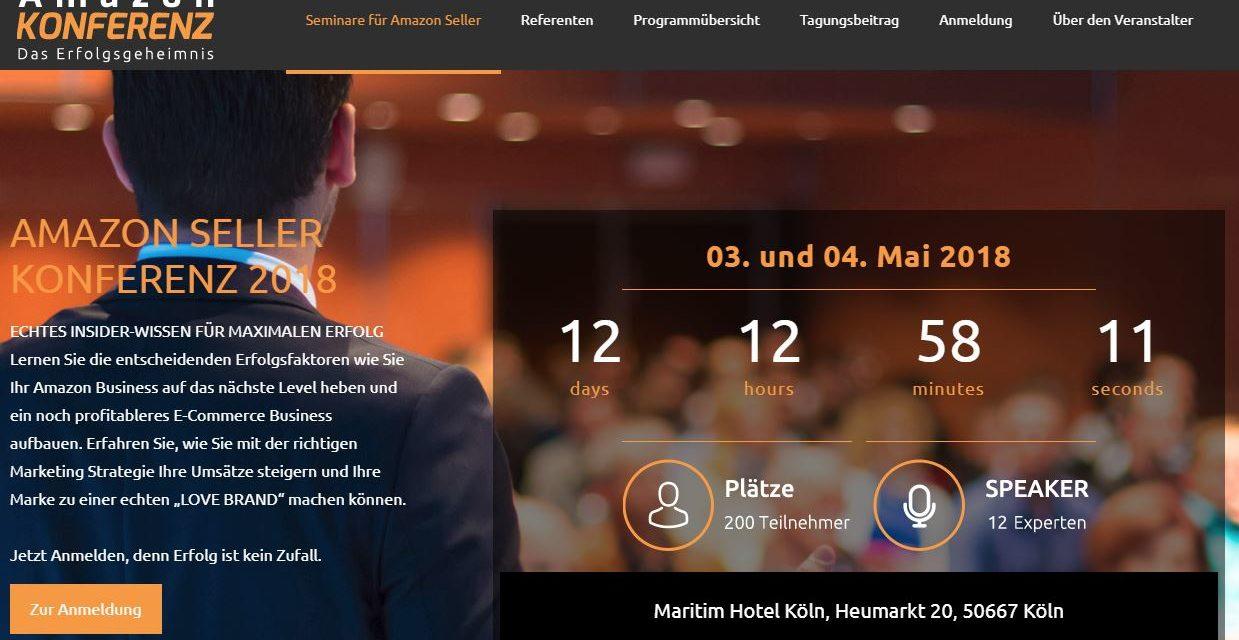 Ich mach mal Werbung: Amazon Seller Konferenz in Köln am 3. & 4. Mai