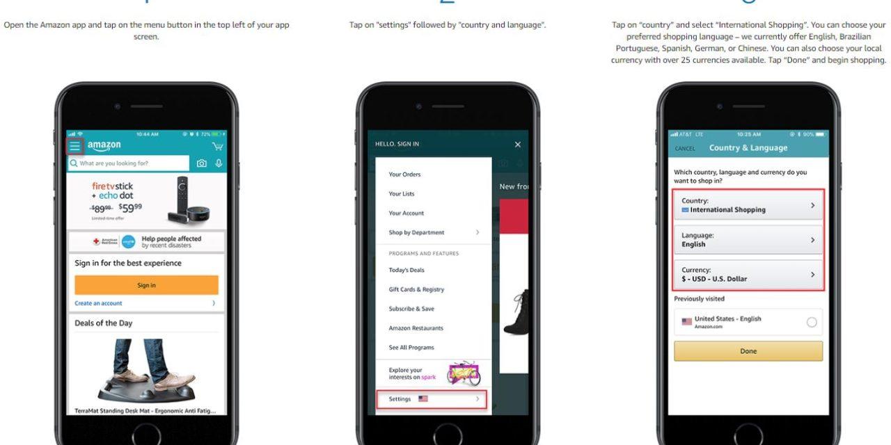 Amazon App gelauncht: internationales Einkaufen jetzt möglich. Was bedeutet das für euch?