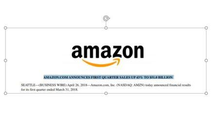 Bäähhhmmm: Amazon steigert den Umsatz um 43% auf 51 Mrd. US$ im Q1/18