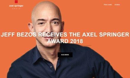 Jeff Bezos ist in Deutschland und erhält den Axel Springer Award