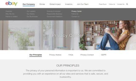 eBay launcht Datenschutzzentrum