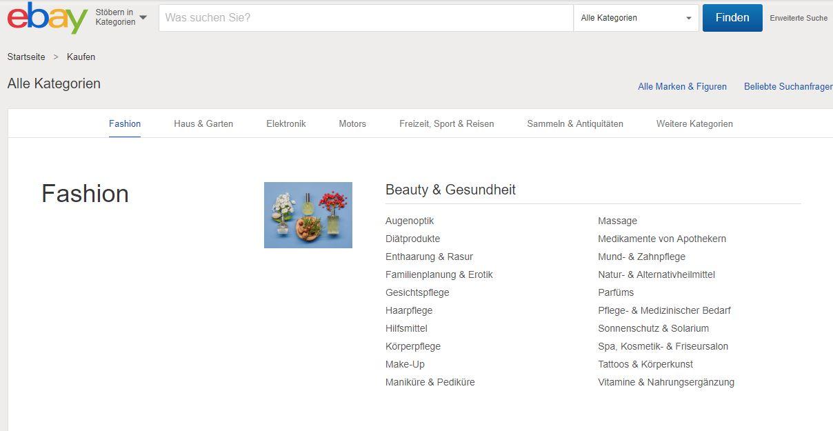 Hilfe: Vollständige eBay Kategorie Liste kostenlos zum Download