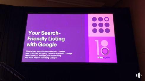 eBay Open 2018 Workshop: Wie optimiert ihr eure Listings für Google Shopping