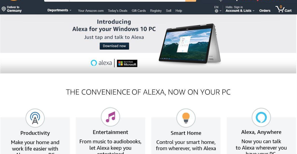Alexa könnt ihr jetzt auf den Windows PC downloaden