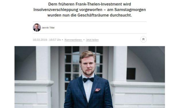 Jetzt ist es aus: Hausdurchsuchung bei von Floerke und ab auf die Titelseite