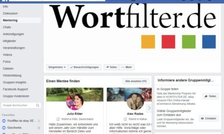 Neu: Facebook-Mentoring-Programm in der Wortfilter Community
