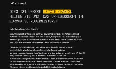Protest: Wikipedia schaltet sich ab & ihr könnt auch mitmachen