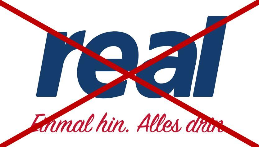 Real steht vor der Zerschlagung. Auch real.de ist betroffen
