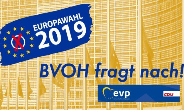 BVOH fragt nach: EU-Wahl – Die Parteien antworten