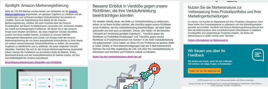 Amazon Händler Newsletter Mai 2019