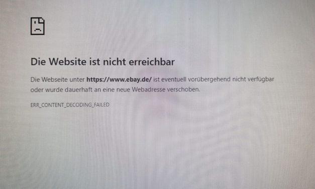 eBay-Störung – Sorry, habe wohl den falschen Knopf gedrückt