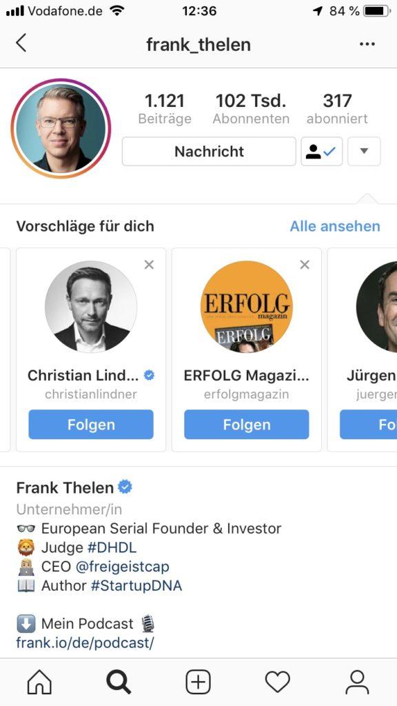 Frank Thelen Facebook