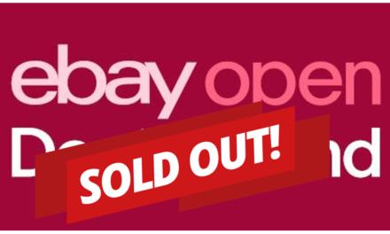 eBay Open 2019 ausverkauft. Wer zu spät kommt…
