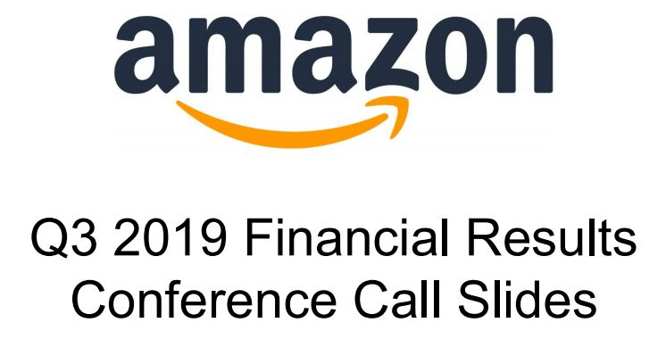 Trotz aller Unkenrufe: Amazons Q3/19 Zahlen sind gut