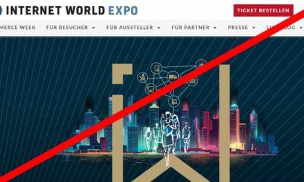 Die Internetworld EXPO 2020 fällt aus!