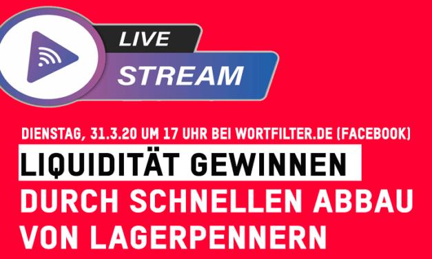 Live-Stream: Liquidität gewinnen durch schnellen Abbau von Lagerpennern