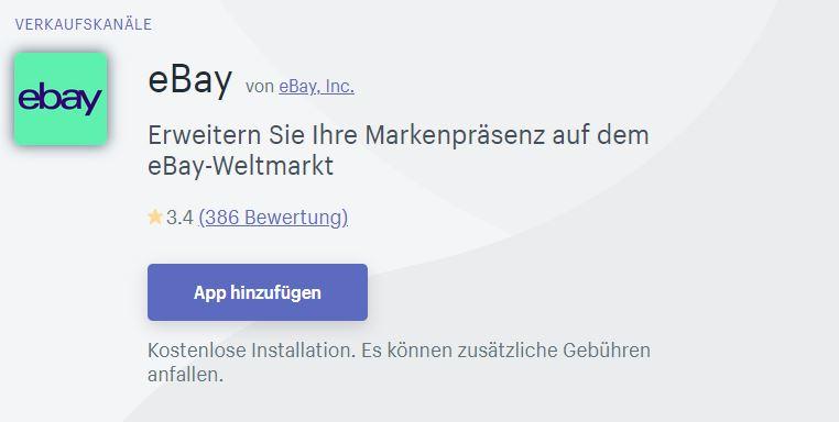 eBay & shopify haben sich lieb