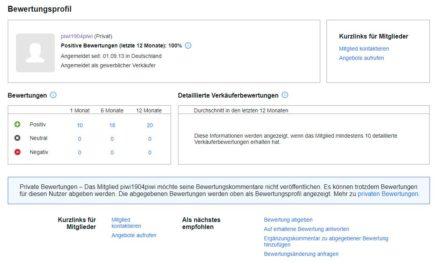 eBay-Account mit über 40.000 Bewertungen zu verkaufen