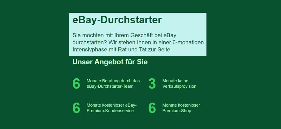 eBay setzt Hilfeprogramm für den Handel fort