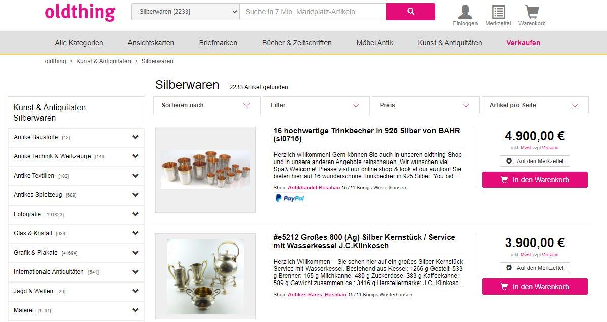 oldthing.de – Die Sammlerplattform für Rares & Seltenes [Werbung]
