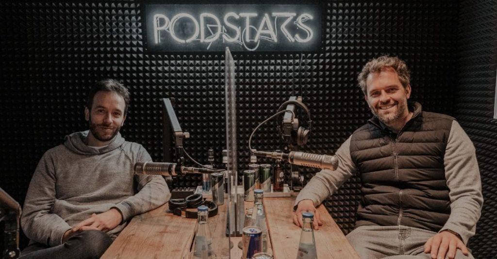 SellerX-Gründer Malte Horeyseck (r.) bei der Podcast-Aufnahme mit Philipp Westermeyer