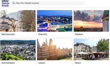 Retter des stationären Handels und der Innenstädte: eBay Deine Stadt