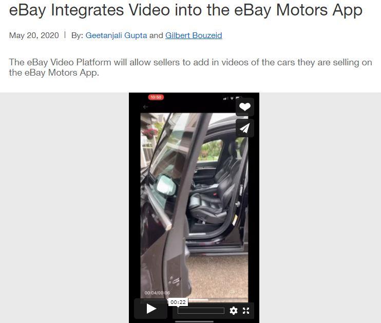 eBay Videos: Neue Funktion ab 3. Quartal auch in Deutschland verfügbar