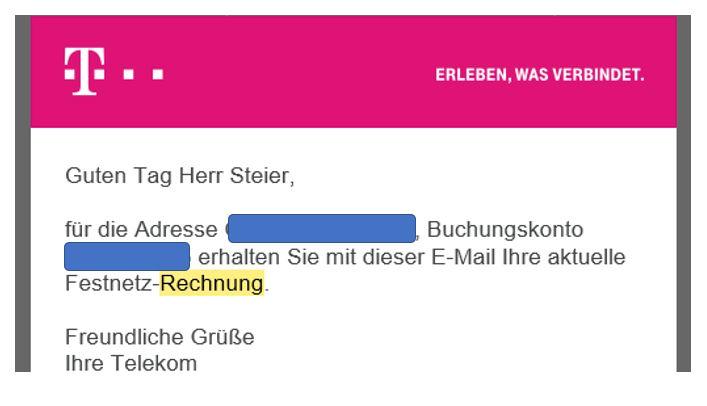 Rechnung Mail Telekom